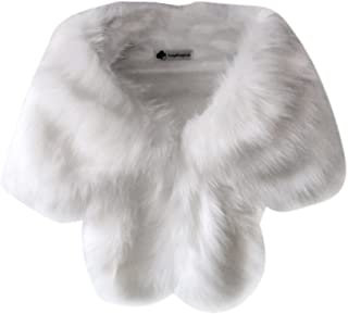 Women's Faux Fur Bridal Wedding Shawl and Wraps Winter Warm Party Evening Fur Stole