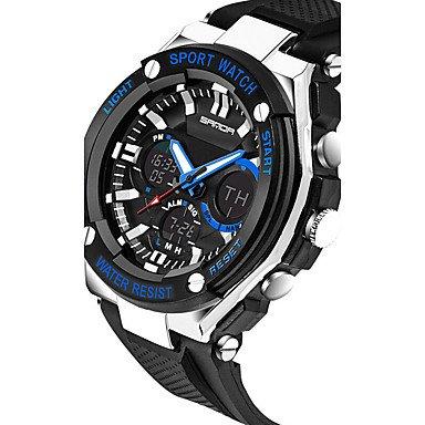 XKC-watches Herrenuhren, Sanda Herrn Armbanduhr Smart Watch Militäruhr Modeuhr Sportuhr Digital Japanischer Quartz Chronograph Wasserdicht LED Nachts Leuchtend