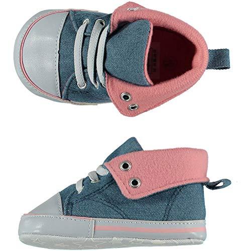 Angro Baby Krabbelschuhe Lauflernschuhe Weiche Sohle Babyschuhe Mädchen Sneaker ABS Sohle dunkelblau Gr.16/17