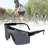 HSTFR Gafas de sol deportivas polarizadas - Gafas de ciclismo al aire libre hombres y...