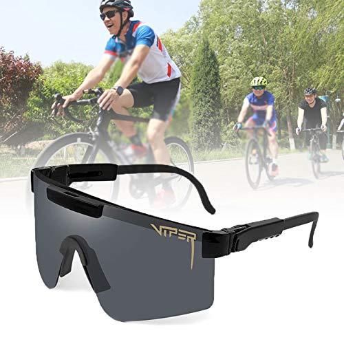 HSTFR Gafas de sol deportivas polarizadas - Gafas de ciclismo al aire libre hombres y mujeres con protección UV400 y marco irrompible TR90 para conducir un automóvil correr pesca senderismo