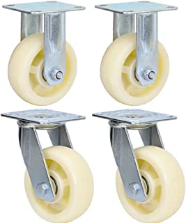 Color : Brake, Size : 6 inches MUMA Heavy 4//5//6//8 Inches Polyurethane Core Casters Furniture Trolley Wheel Industrial Machinery Wheel Wear Resistant