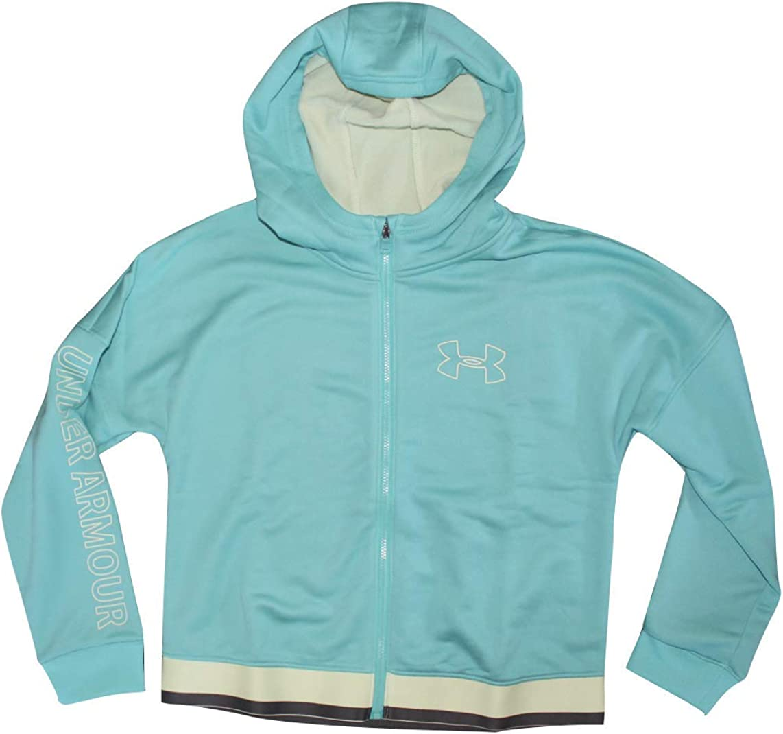 Under Armour Girls' UA Tech Terry Full Zip Hoodie (Youth Medium) Sea Foam Blue Hoody 1351013-400