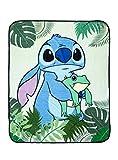 Disney Lilo & Stitch Frog & Leaves Throw Blanket MULTI One Size