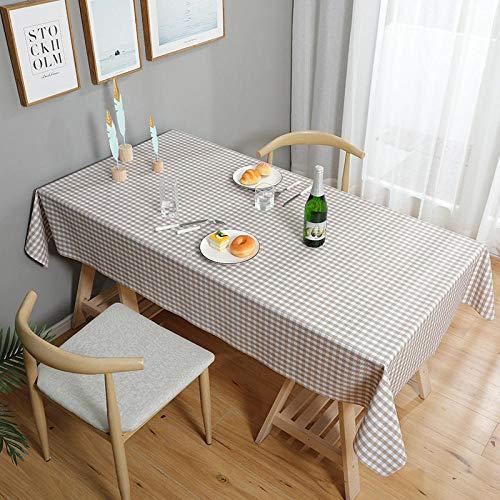 Haoxp Wasbaar, onderhoudsvriendelijk, onderhoudsvriendelijk, keuken, tuin, warmte-isolatie, placemats, antislip, tuintafel, voor woonkamer, waterdicht en olie, 2_90 x 135 cm