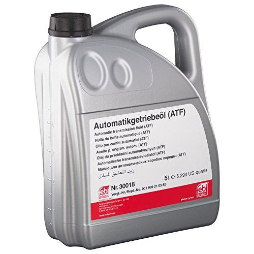 febi bilstein 30018 Automatikgetriebeöl (ATF) in automatischen Getrieben, Wandlern und Hydrolenkungen , 5 Liter