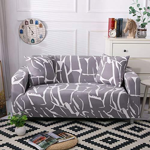 ASCV Funda de sofá elástica con Todo Incluido para Sala de Estar Funda de sofá con Estampado Floral Moderno y Flexible Fundas para sofá A8 4 plazas