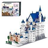 SENG Bloques de construcción modular con base, 11810 piezas, técnica de montaje, castillo europeo, arquitectura europea, paisaje