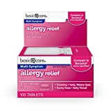 Basic Care Allergy Relief, Diphenhydramine HCl Tablets 25 mg, Antihistamine, 400 Count