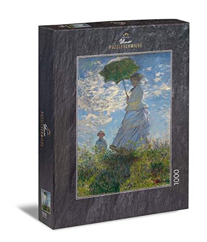 Ulmer Puzzleschmiede - Puzzle Claude Monet, Femme à l'ombrelle - Puzzle 1000 Pezzi - Il Famoso Dipinto di Claude Monet (1875)
