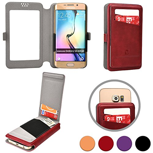 "Cooper Slider Flip [Universal 5"" Smartphone Wallet] Case for Universal 5"" Phones Wallet Case in Maroon"