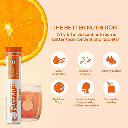 Fast&Up Charge - Vitamin C and Zinc Supplement