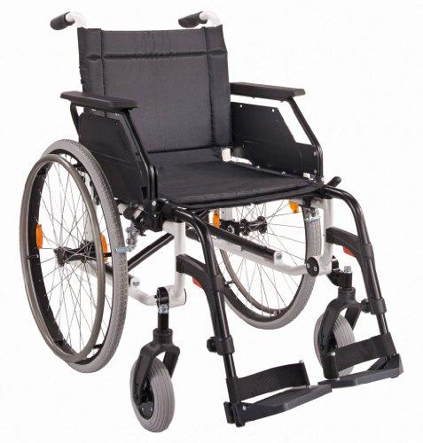 DIETZ Leichtgewicht-Faltrollstuhl CANEO E ohne Trommelbremse Sitzbreite 48 cm