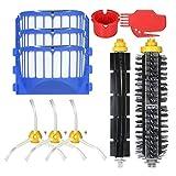 Funien Accessoires pour Room-ba 690, Pack de 10 Accessoires de Remplacement Kit pour i-Robot Room-ba 600 Series 690691694650651664615601630 Aspirateur - Brosse à Poils + Brosse Flexible + Côté