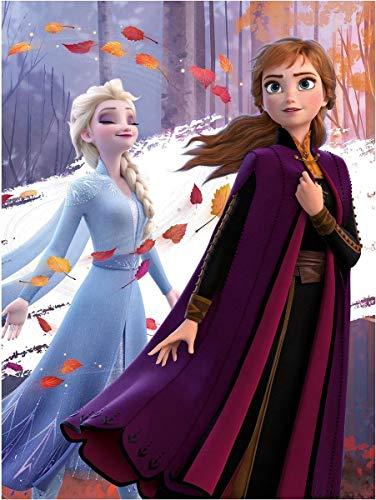 Disney Frozen - Manta de forro polar (100 x 140 cm), diseño de Anna y Elsa
