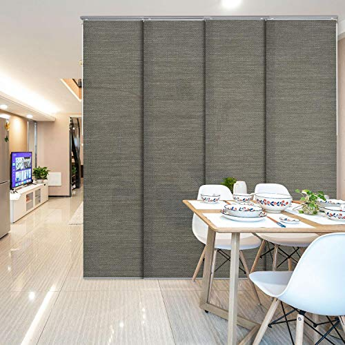 Adjustable Room Divider Room Cut to Length Screen Sliding Panel Curtain Shade Sound Proof Wall Curtain Sound Proof a Room Soundproof Room Divider Sound Proof Screen Sound dampening Curtains