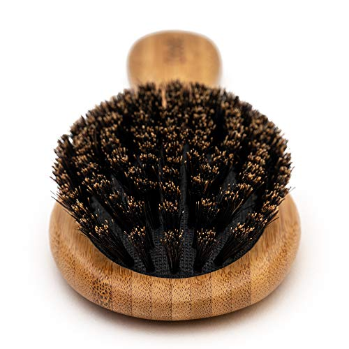 Boar Bristle Hair Brush Set - Designed for Kids, Women and Men. Natural Bristle Brushes Work Best for Thin and Fine Hair, Add Healthy Shine, Improve Texture, Reduce Frizz. Wood Wet Detangler Comb