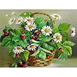ZXDA Pintura al óleo de Bricolaje por números Flores Imagen de Arte sobre Lienzo Pintura por número Kits de Flores a Mano decoración del hogar Regalo A16 45x60cm