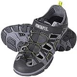 PONTAPES(ポンタペス) スポーツサンダル 水陸両用 アクアシューズ ウォーターシューズ POMS-2200 ブラック M(25-26) メンズ シャワーサンダル マリンシューズ 靴 くつ