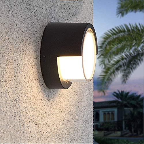 Lampada da Parete per Esterno Lampada da Parete Lampada a LED da 8 W Impermeabile Lampada da Interno Moderna a Basso Profilo per Interni 3000K Lampada a Sospensione da Parete Bianca Calda per Veranda