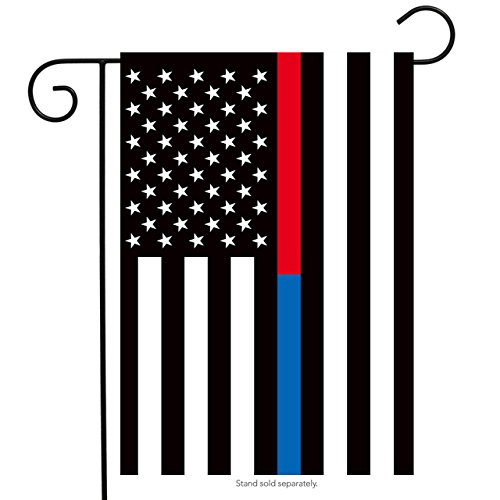 Briarwood Lane Thin Blue & Red Line Garden Flag Police Firefighter Patriotic 12.5' x 18'