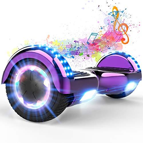 """GeekMe Hoverboards,Self Balancing Scooter 6.5\"""",Elektroroller,Balance Board mit LED-Leuchten,Bluetooth-Lautsprecher,Geschenk für Kinder, Jugendliche"""