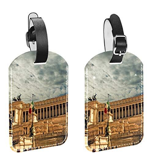 ATOMO Leather Luggage Bag Tags Vittorio Emanuele Monument