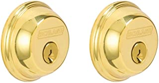 Schlage Lock Company B62N 505 605 Double Cylinder Deadbolt in Bright Brass