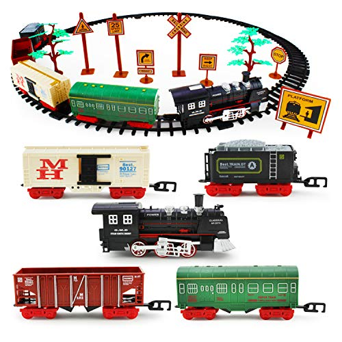 Boley Classic American Kids Train Set - 40 Pc Electric Train Toy and Track Set for Ages 3+