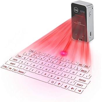ASHATA Teclado Virtual portátil Bluetooth, Mini Wireless Bluetooth ...