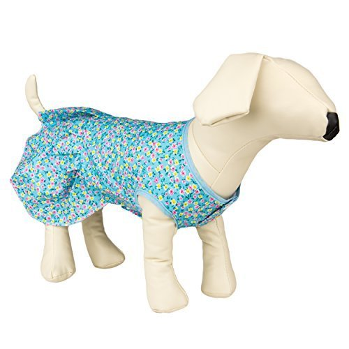 Vangoddy Inc CueCue Pet Floral Pet Dress, Small, Blue by