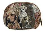 Kosmetiktasche Schminktasche 20 x 13 x 5 cm (Hunde) im Gobelin Stil Signare Fa. Bowatex