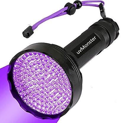 UV Blacklight Flashlight, Super Bright 128 LED Pet Dog Cat Urine Detector light Flashlight for Pet Urine Stains, UV Black light Flashlight for Bed Bugs, Scorpions Hunting 1