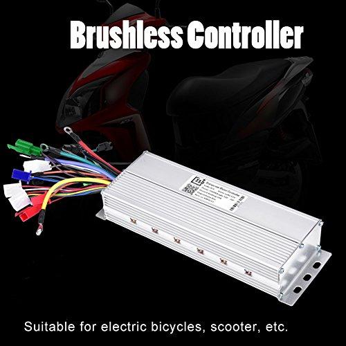 Tbest 60V 1500W Brushless Controller Motor Speed Controller Bürstenmotor Drehzahlregler Elektromotor Controller für E-Bike Elektro Fahrrad Roller