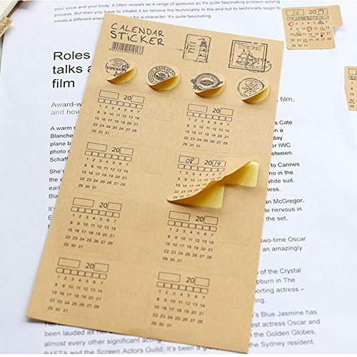 8pcs Calendar Stickers, Calendars Planner Stickers for Bullet Journal Planner Self Adhesive Tabs Sticker DIY Monthly Index Dividers for Bullet Journal Diary Planner