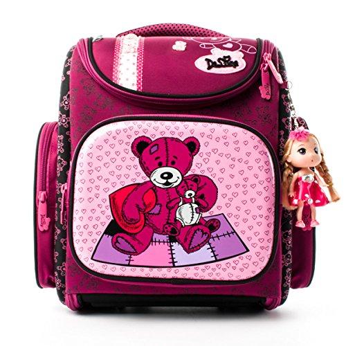 Ergonomischer Schulranzen Mädchen 1-4.Klasse,Schulrucksack Kinderrucksack Taschen,Rucksack School Kinderrucksäcke,im Kindergarten der Kleine Freund,Mädchen Geschenk