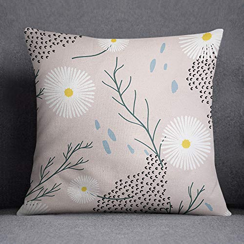 Bonamaison, fundas de almohadones decorativos, Funda de cojín, Poliéster y algodón, 45X45 cm - diseñado y fabricado en Turquía TREYS100016