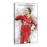 Poster mit Fußballspieler Fernando Torres und