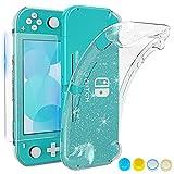 HEYSTOP Hülle für Nintendo Switch Lite,TPU Schutzhülle für Nintendo Switch Lite Tasche,Case für Nintendo Switch Lite mit Schutzfolie und Daumenkappen für Nintendo Switch Lite Zubehör