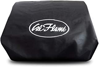 Cal Flame 089245002222 Adjustable Standard Black Cover for Grill Heads, Stainless Steel