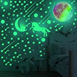 705 Pcs Glow in The Dark Stars Wall Stickers, Glowing Unicorn Stars Dots Meteors and Moon for Ceiling Wall Décor, for Kids Bedroom or Birthday Gifts