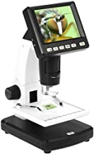 WXX Portable Digital Microscope with 3.5-Inch LCD Screen, 1200X Rotating Zoom 5MP Camera Video, 8 Adjustable LED Lights, S...