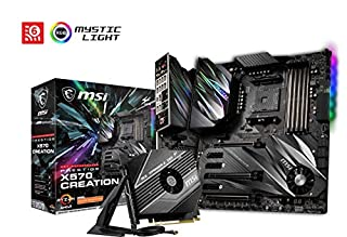 MSI Prestige X570 Creation - Placa Base (Chipset AMD X570, DDR4, Audio Boost, Intel Lan, Socket AM4, Wi-Fi, Soporta AMD Pocesadores) Color Negro (B07TCP7VM2) | Amazon price tracker / tracking, Amazon price history charts, Amazon price watches, Amazon price drop alerts