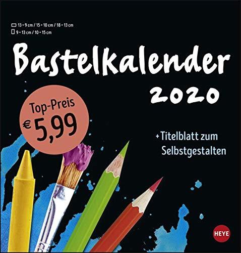 Bastelkalender schwarz mittel. Bastelkalender 2020. Monatskalendarium. Spiralbindung. Format 21 x 22 cm