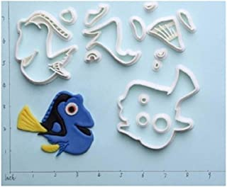 Finding Nemo Design Cookie Cutter Custom Made 3D Printed Fondant Cake Cutter Set Cake Decorating Tools - 14 (3 inch)