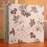 SHIYANTQ Polaroid 600 45,7 cm selbstklebendes Fotoalbum, handgefertigt, Romantisches Paar, Familie, Klassenkameraden, Babystrampler, aus Holz, weißer Hintergrund