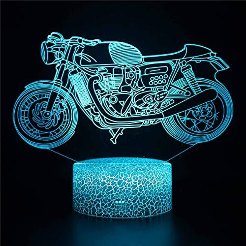 3D lámpara de ilusión óptica 3D noche luz 16 colores cambio gradual interruptor táctil USB lámpara de mesa para regalos o decoraciones del hogar