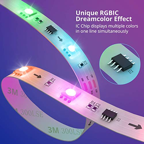 Govee Rgbic Led Strip Lights 16.4 Feet, App Control, for Bedroom, Kitchen, Room 5
