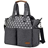 Best Diaper Bags For Twins - Lekebaby Diaper Bag Tote Purse Satchel Diaper Messenger Review