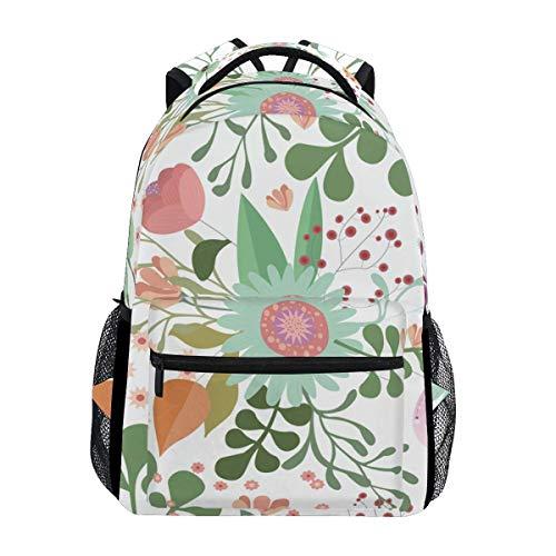 poiuytrew Floral Print Backpack Students Shoulder Bags Travel Bag College School Backpacks